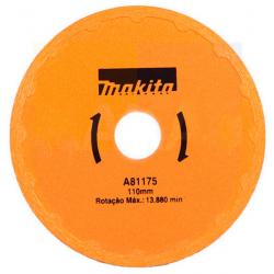 Disco para Serra Mármore -  Diamantado Liso - MAKITA - 110mm - A81175