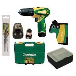 Parafusadeira/Furadeira de Impacto - Makita - HP 2016D - Bateria  12 V - Carregador -  Kit Brocas
